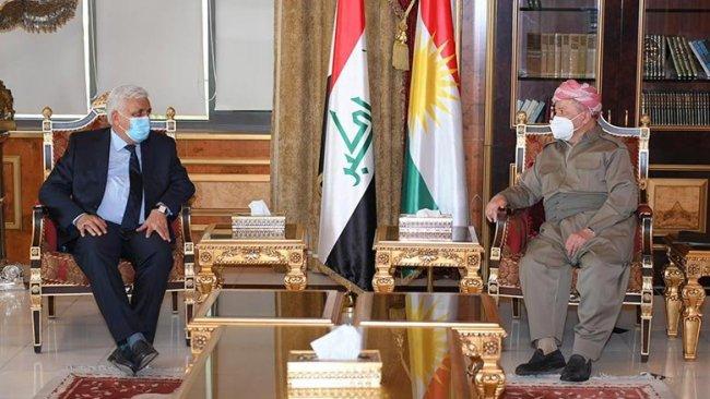 Başkan Barzani, Haşdi Şabi Başkanı'yla görüştü