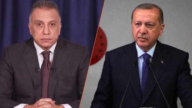 Erdoğan ve Kazımi Şengal saldırısını görüştü