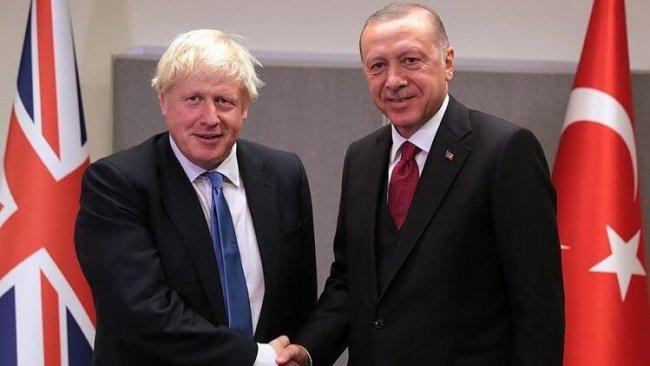 Türkiye Cumhurbaşkanı Erdoğan ile İngiltere Başbakanı Johnson görüştü