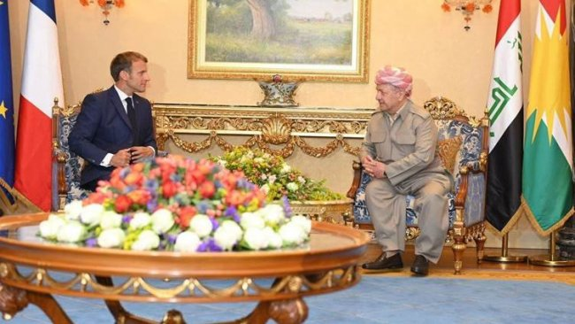 Taştekin: Macron, Barzani ile görüşmesinde Kürtlerin yalnız bırakılmayacağı mesajını verdi