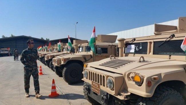 Koalisyon'dan Peşmerge Güçleri'ne 150 araçlık yardım
