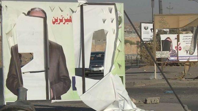 Kerkük'te Kürt adayların posterleri yırtıldı