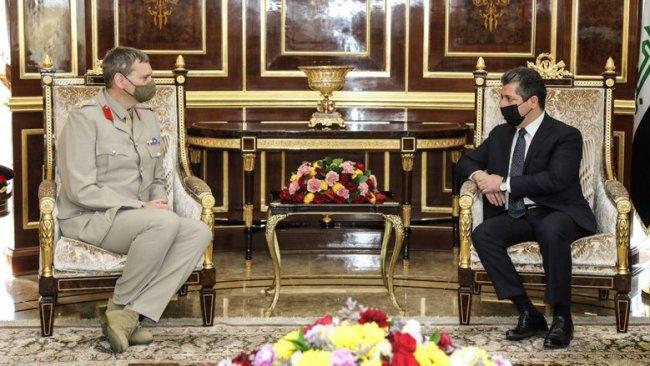 Başbakan Barzani, Uluslararası Koalisyon komutanını kabul etti