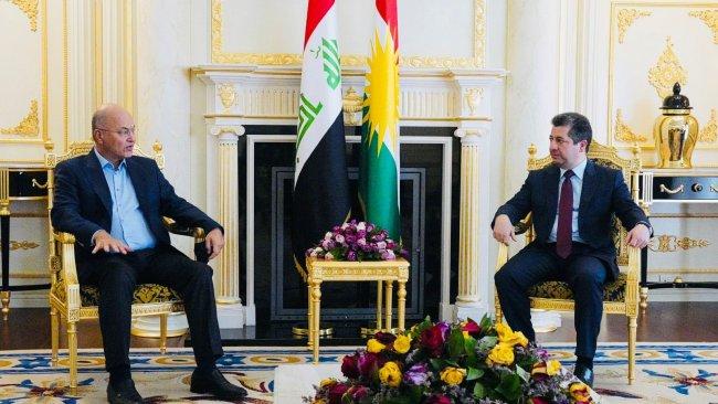 Başbakan Barzani, Irak Cumhurbaşkanı Salih ile görüştü