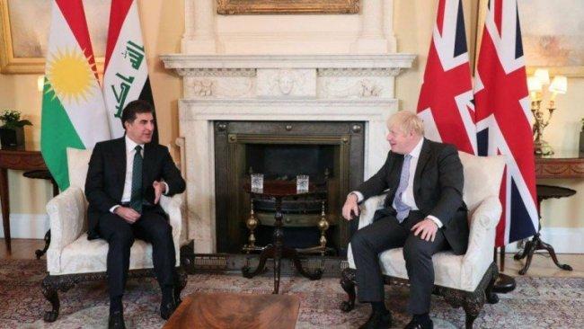 Başkan Barzani ve İngiltere Başbakanı Londra'da bir araya geldi