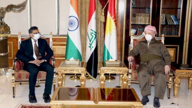 Başkan Barzani, Hindistan Bağdat Büyükelçisi Prashant Pise'yi kabul etti