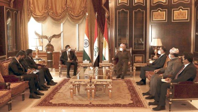 Başkan Barzani ile görüşen Hindistan heyetinden işbirliği mesajı