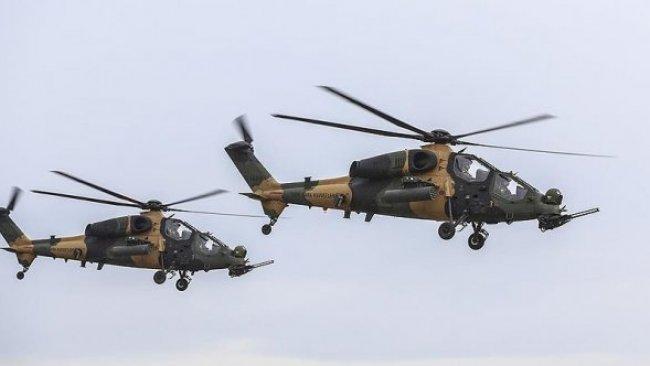 Helikopterler Metina'da PKK mevzilerini bombaldı