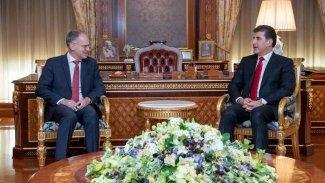 Neçirvan Barzani'yle görüşen Avusturya Büyükelçisi'nden Kürdistan Bölgesi'ne övgü