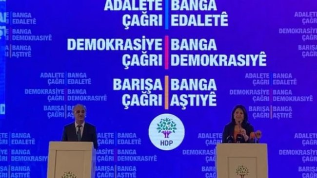 HDP, 11 maddelik deklarasyonunu açıkladı