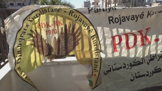 Kamışlo'da PDK-RK'nin ofisi yakıldı